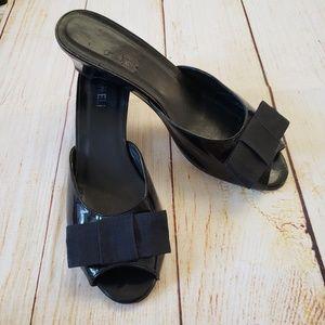 Vaneli leather heeled sandals.  Size 9.5 M